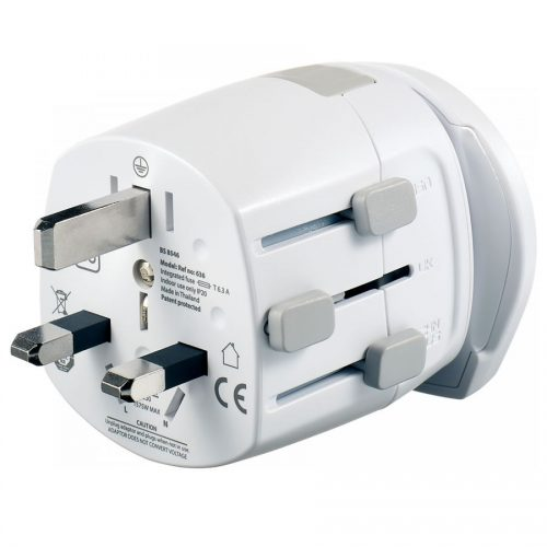 Universal adapter specially made for travelers:
